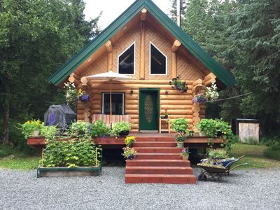 Photo for Chalet In The Pass is a custom built log cabin with modern touch.