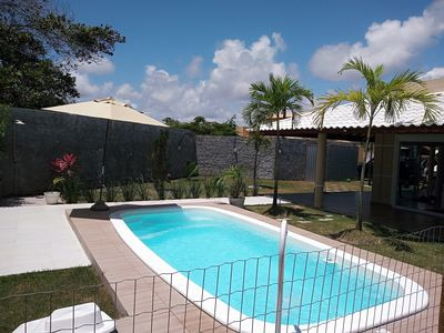 Photo for House with pool with 3/4 in gated community near Barra de Jacuípe beach