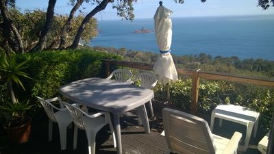Photo for Mobile home with exceptional sea views, Ile d'Or campsite feet of the beaches