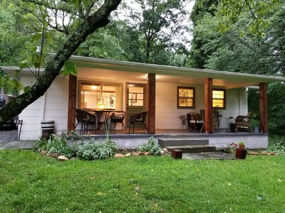 Photo for Tranquil setting with a heavenly front porch view of Black Rock Mountain