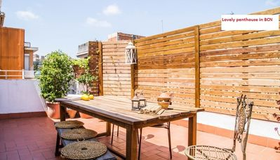 Photo for Lovely penthouse with an amazing sunny terrace in Barcelona