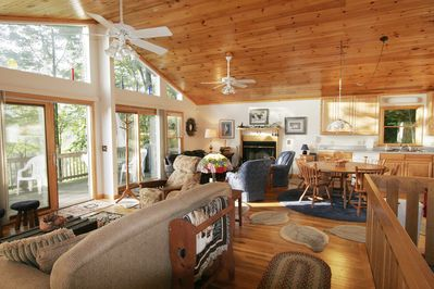 The eastern exposure of the living area affords great light & beautiful sunrises