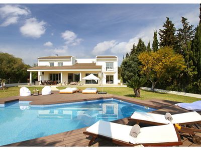 Photo for Modern Palmeras is a Super chic family villa with enormous garden and swimming pool