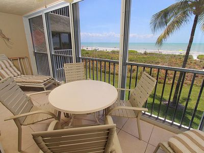 Photo for Two Bedroom, Gulf Front Condo Located off of Middle Gulf Drive, Sanibel Surfside 113