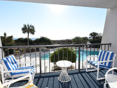 Photo for Station One - 1H - First floor ocean front 2 bedroom condo.