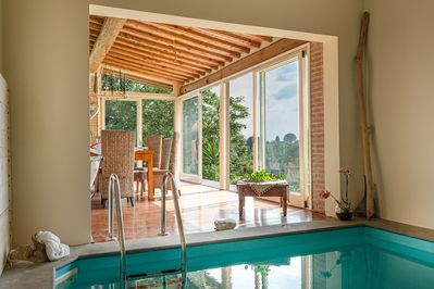 The Pool  - Lucca Rental Villa with Heated Pool