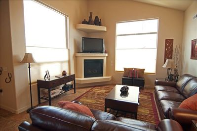 Relax and Enjoy the Hdtv or a DVD, or Views of the Red Rock Through the Windows