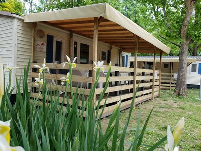 Photo for Holiday Chalets Tuscany - Liguria by the sea on a holiday park with a swimming paradise