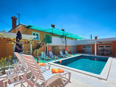Photo for Villa Issa is a 4 bedroom house, with huge terrace, outside dining area & pool.