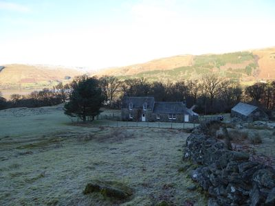 Photo for A secluded, traditional cottage on a West Perthshire hill farm