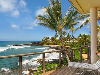 Photo for Hale Kilokilo: Perfect Family Oceanfront Getaway in Poipu