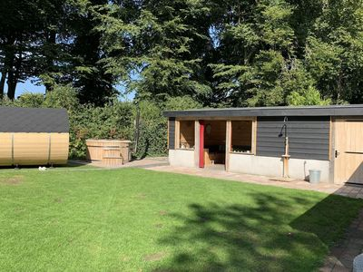 Photo for Holiday home with covered terrace in spacious garden with hot tub and sauna