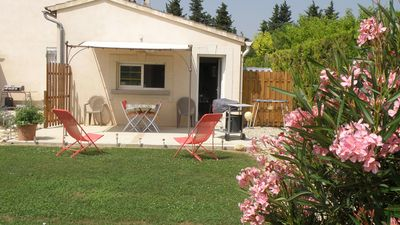 Photo for nice studio with stunning views of Mont Ventoux