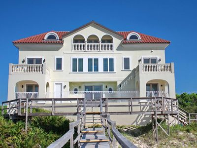 "Photo for Ready to rent now! FREE BEACH GEAR! Beachfront Plantation, Pool, Private Boardwalk, Elevator, 7BR/7.5BA ""Plantation Palace"""