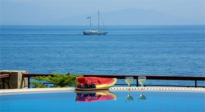 Photo for Beachfront Villa Benele , Corfu Greece