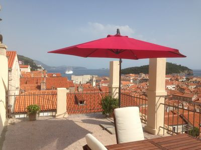 Photo for View of Old Town from terrace House Hilda 1 , Old Town , Dubrovnik