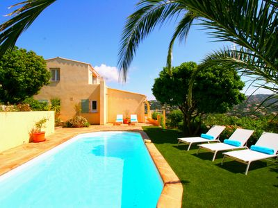 Photo for Luxurious holiday villa on the Côte d'Azur with sea view, Lord or Sainte Maxime.
