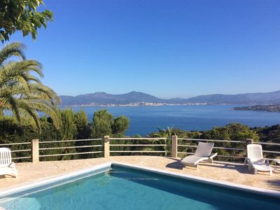 Photo for Superb villa with 180 degree views of the Gulf of Ajaccio and the Sanguinaires