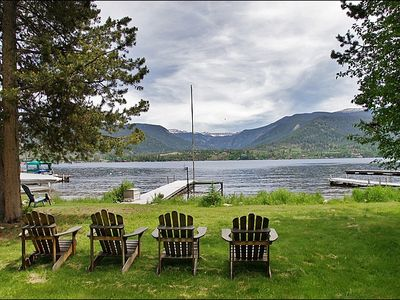 Photo for **Discounted Summer Rates** Private Hot Tub, Situated Directly on Grand Lake, Boat Dock (213513-1006)
