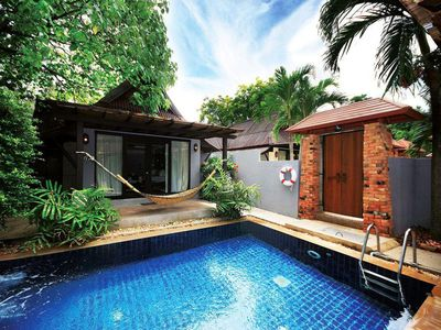 Photo for Private pool villa, Two Bedrooms, Close to beach, large pool areas, ocean