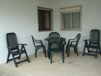 Seating in front of house