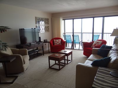 Photo for Ocean Sands 1107 Amazing Renovated 2 Bedroom 2 Bath Unit Gulf Front King Bed Free WIFI Free Parking