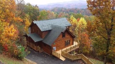 Photo for Convenient,Mountain View,2 Suites,Game Rm,Hammock,Fire Pit,Hot Tub+More!