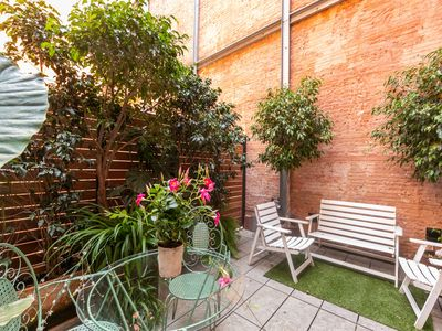Photo for CENTRAL APARTMENT W / A PRIVATE TERRACE IN THE CITY CENTER GOTHIC QUARTER FOR 2