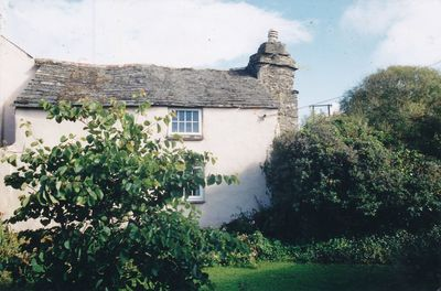 Side view of cottage
