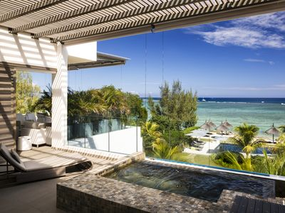 Photo for Luxury 3 bedrooms Penthouse with pool in Tamarin by Horizon Holidays