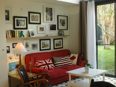 Photo for Quiet, bright upscale holiday cottage in the center of Bayeux, with garden
