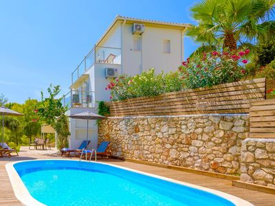 Photo for Modern villa with 3 bedrooms, private pool, gardens, amazing views in Keri