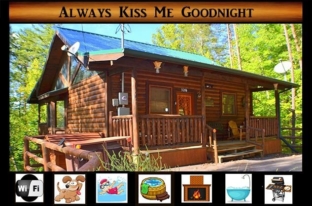 Always Kiss Me Goodnight}Gated Community\ wifi \ gas fireplace \ hot tub\  pool - Pigeon Forge