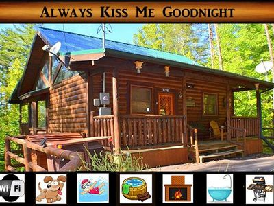 Photo for Always Kiss Me Goodnight}Gated Community\ wifi \ gas fireplace \ hot tub\ pool