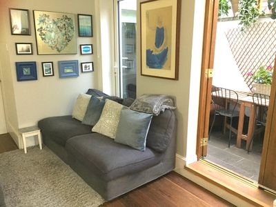 Photo for Cosy apt with terrace in leafy London riverside