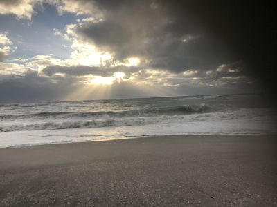 Photo for Beautiful Sunset and Sandy Beach. Remodeled Duplex steps from Gulf of Mexico.