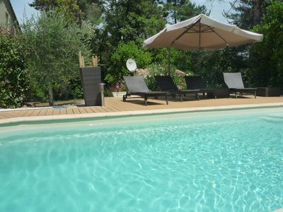 Photo for Houses, swimming pool 30 minutes from the beaches and 1 hour from the ski slopes
