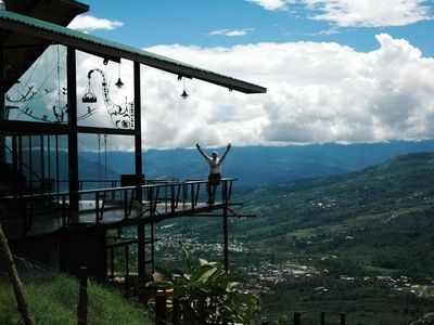 Volare - the house above the clouds. Perched on a cliff above Turrialba Valley