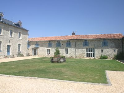 Photo for Charming two bedroom cottage with 10m x 5m swimming pool near Richelieu