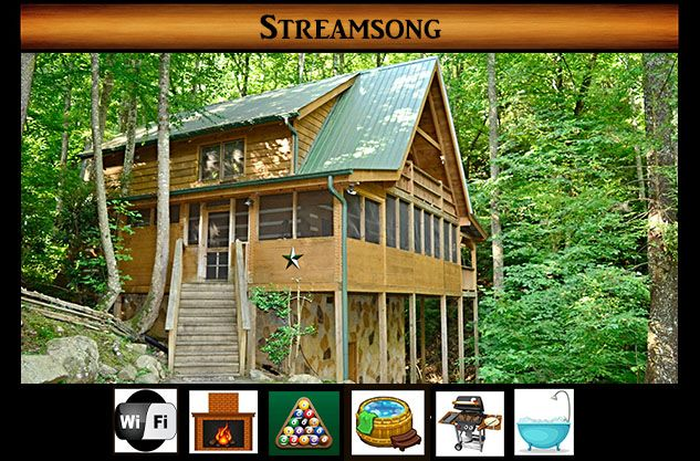 Streamsong - Hot Tub / Pool Table / WiFi / Creek View / Secluded - Pigeon  Forge