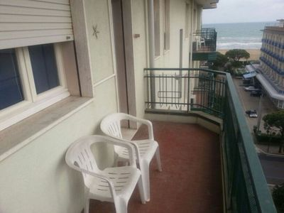 Photo for Spacious sea view apartment 100 meters from the beach in the area served well