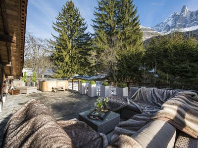 Photo for Hip Chalet in Chamonix - Original chalet with hot tub and vast living space