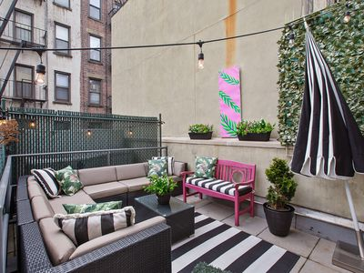 Photo for Perfect Quarantining Apt w/ Huge Private Terrace, elevator bldng, wsher/dryer