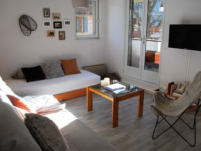 Photo for Nice T3 apartment, renovated, with balcony and mountain views