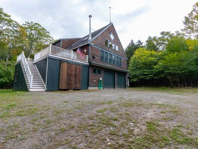Photo for Beautiful, dog-friendly cabin w/ furnished deck & pool table!