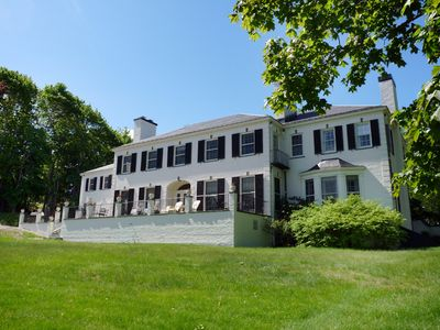 Photo for The Bayview: Historic Shorefront Cottage, Terrace & Dock near Bar Harbor Village