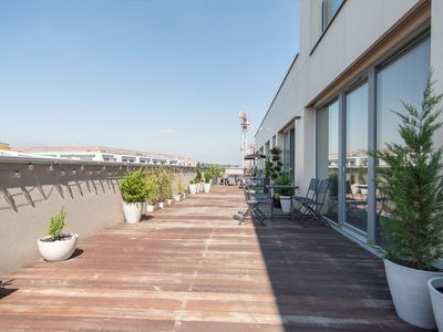 Photo for Brand new apartment on 8th floor with large terrace and swing by easyBNB