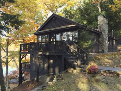 Photo for Waterfront 4-Season Cabin On Lake Horace