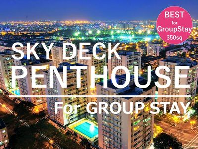 Photo for The Penthouse is the best choice for group. Huge capacity & private sky terrace