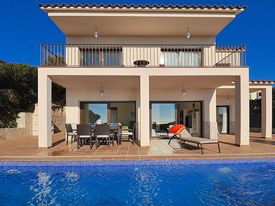 Photo for New villa with panoramic sea views, comfortable for 8 people, private pool, terrace, internet, quiet zone, Villa Riviera Lloretholiday